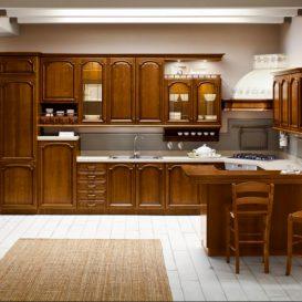 Cucina Classica su una parete 01