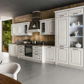 Cucina Classica su una parete 03