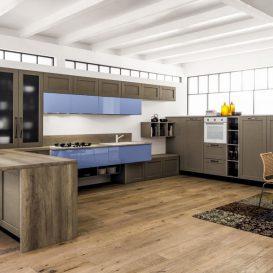 cucina moderna con inserti laccati