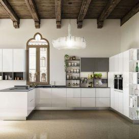 Cucina moderna per ambiente antico