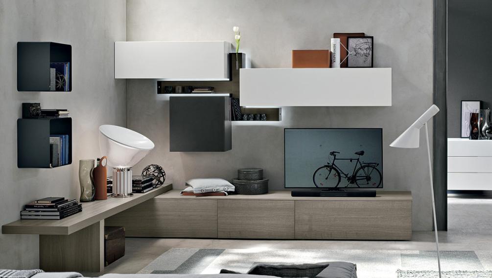 Hf arredamenti genova soggiorno moderno con parete for Arredamenti genova
